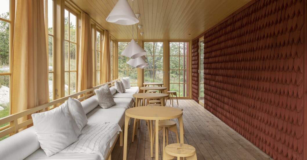 Gert Wingårdhs Äggdal, gul veranda