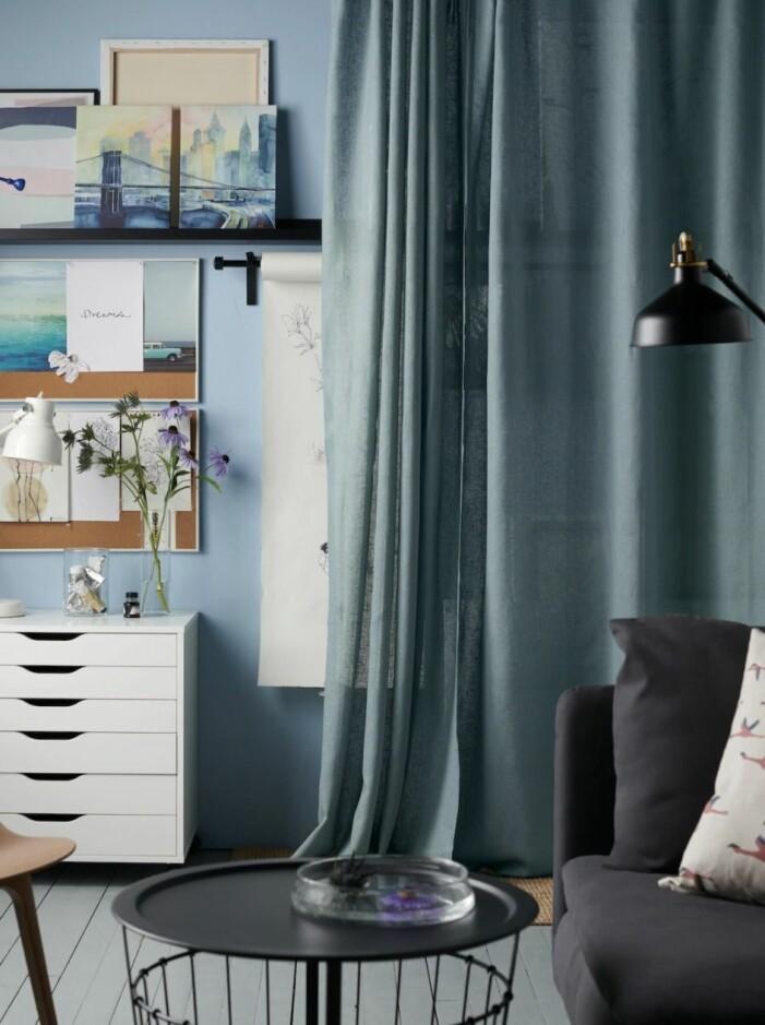 Använd textilier som en snygg, mjuk rumsavdelare