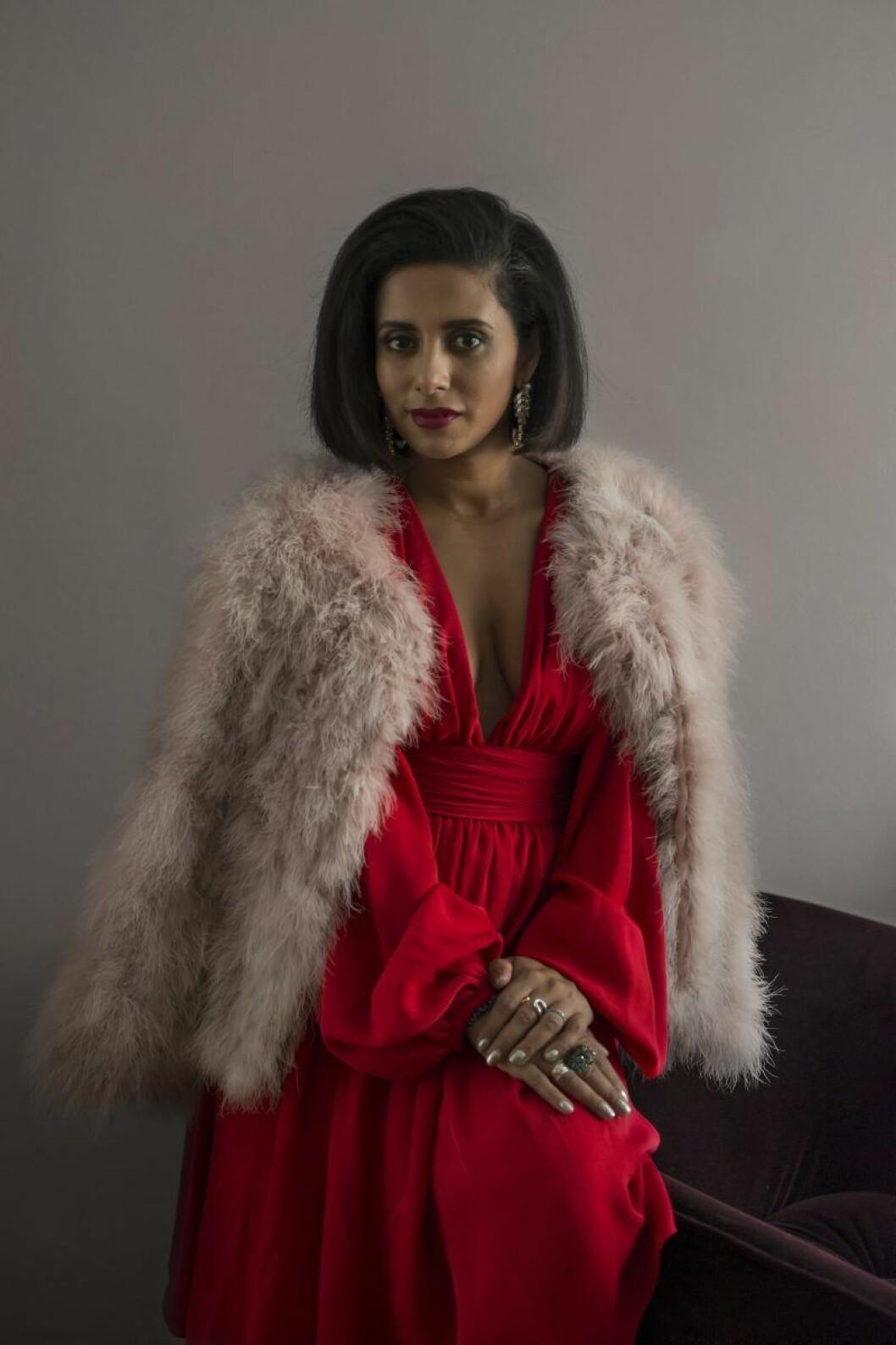 Anitha Clemence i klänning av Giambattista Valli