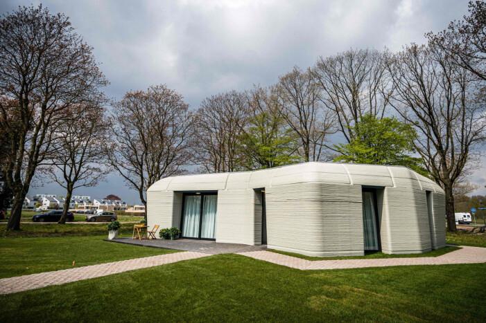 3D-printat hus i Eindhoven