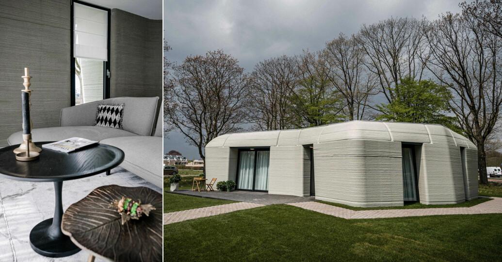 Kika in i det 3d-printade huset i Eindhoven