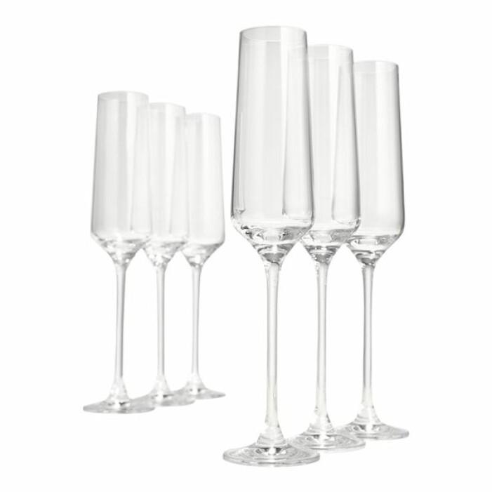 6-pack champagneglas stilrena