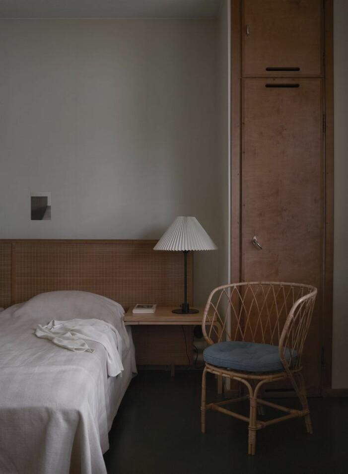 Sovrum hemma hos Alvar Aalto i Helsingfors