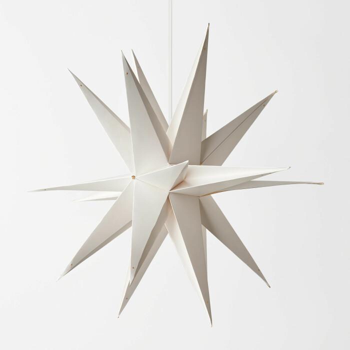adventsstjärna sputnikmodell i vitt