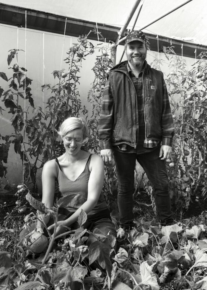 Mauritz och Agnes Larsson Stormgaard från Karshamra Mat & Trädgård