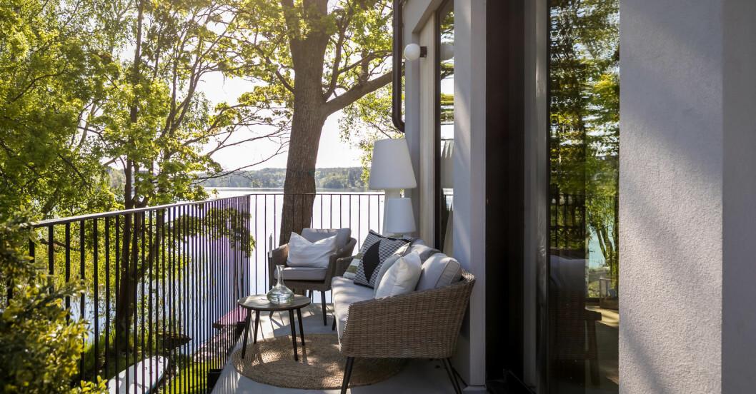 Social yta på terrassen.