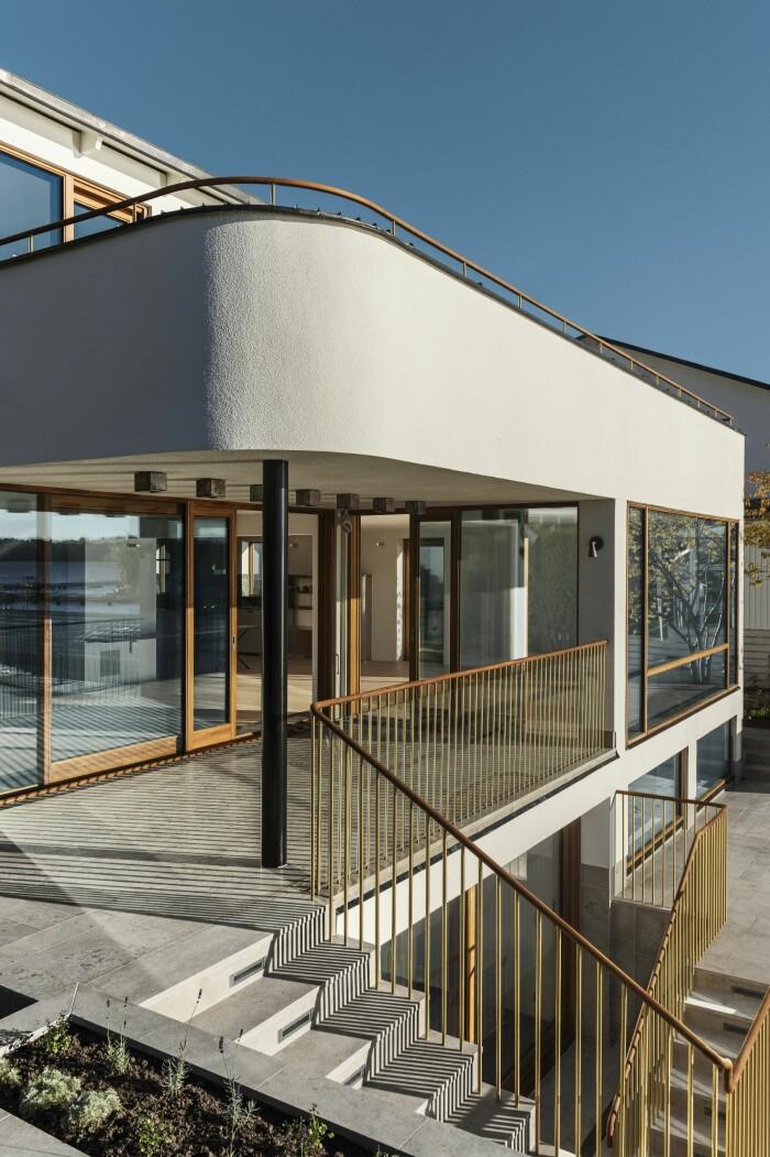 Villan i Ålsten arkitekt Per Söderberg balkonger terrass