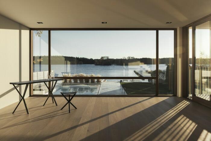 Villan i Ålsten arkitekt Per Söderberg vy mot vattnet