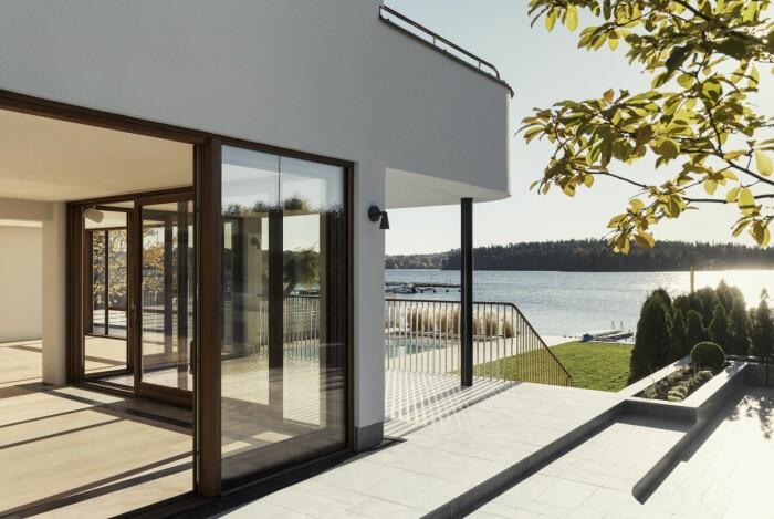 Villan i Ålsten arkitekt Per Söderberg uteplats
