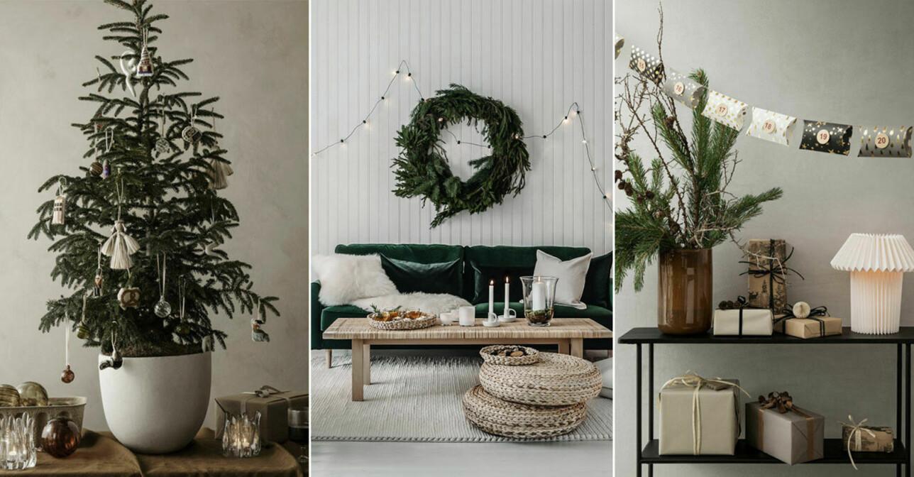 5 alternativa och snygga julgranslösningar att inspireras av