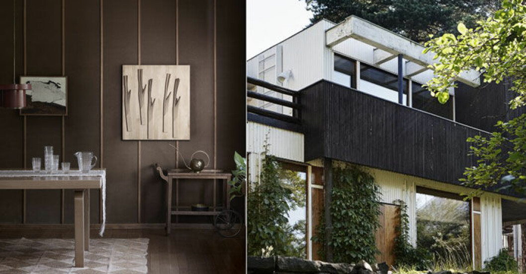 Arkitekten Alvar Aaltos hem i Helsingfors