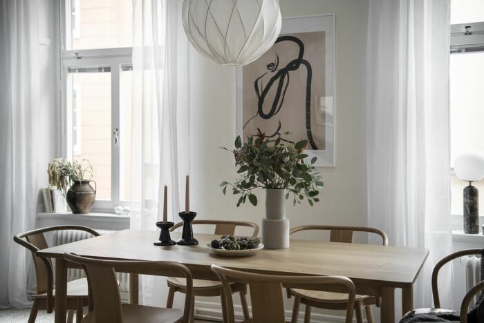 Matplats i lägenheten på Södermalm, som Angelica Blick nu säljer