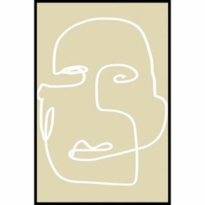 ansikte beige poster