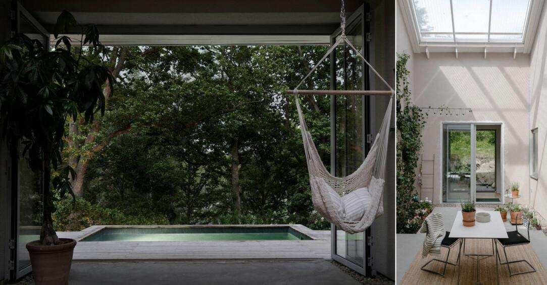 Arkitektritad lyxvilla med pool och uterum utanför Stockholm, se bilderna här