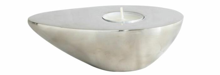 ljusstake avokado silver