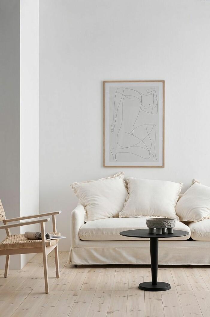vit djup soffa