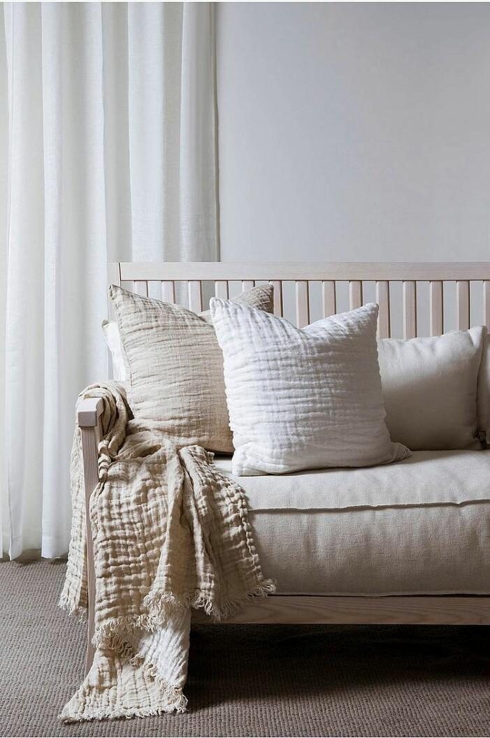 Leinen Kissen Sofa