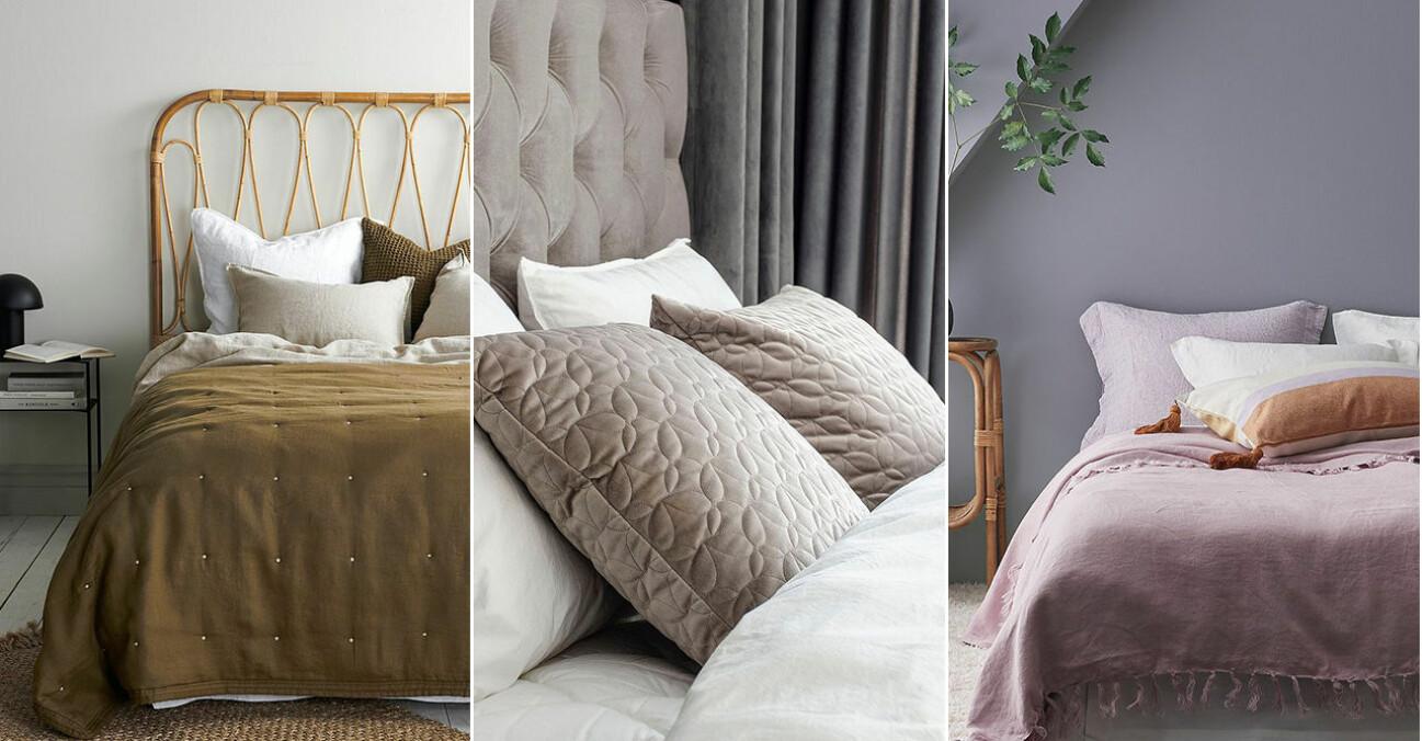 så bäddar du sängen med kuddar