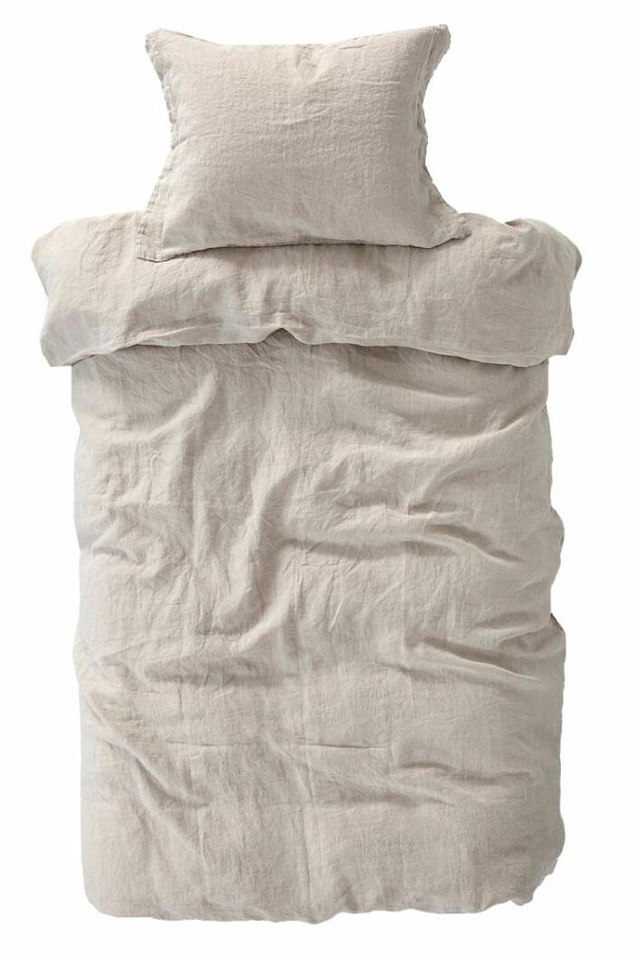 bäddset linne beige