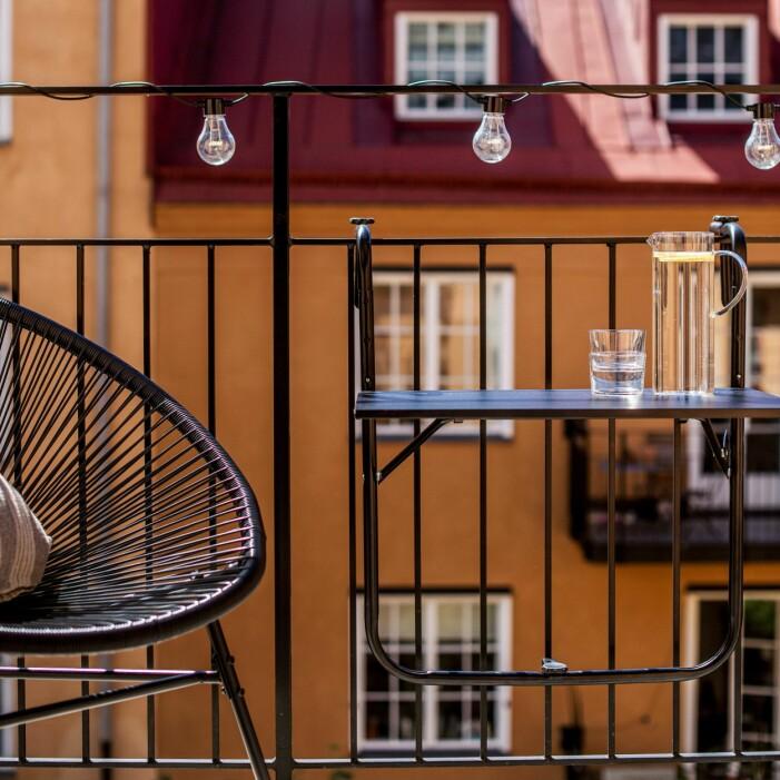 vikbart balkongbord uteplats