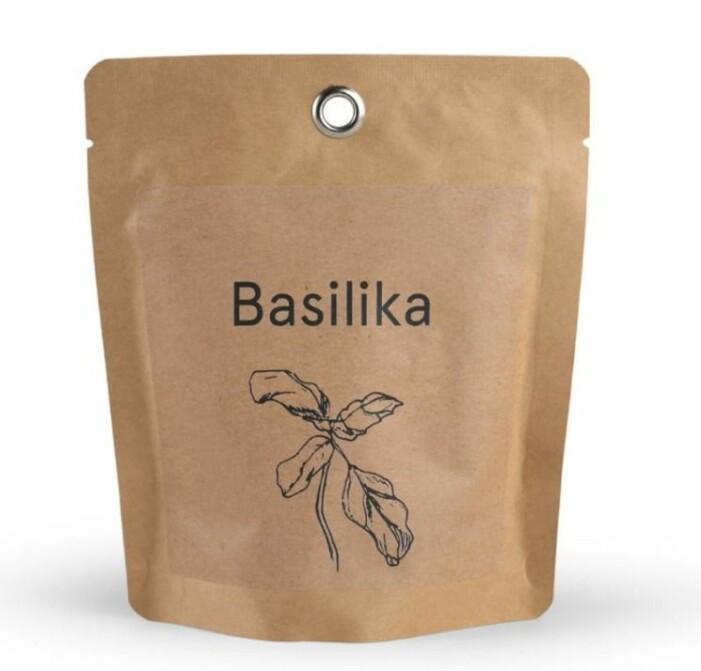 odlingspåse med basilika