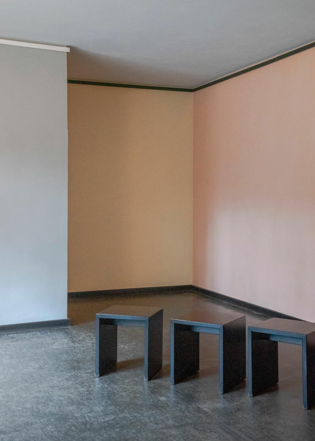 Ateljévåning i en av villorna som kalaldes för Meisterhäuser.