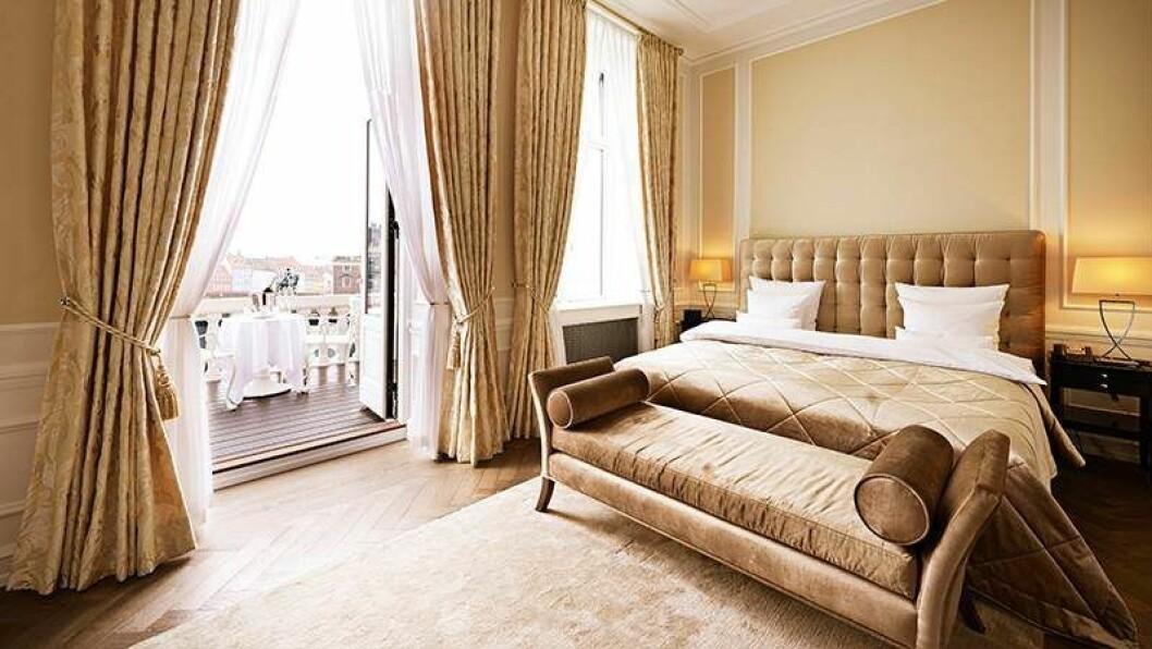 Köpenhamn hotell d'angelterre sovrum