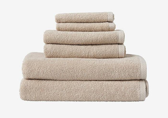 Beige handdukar från Ellos Home