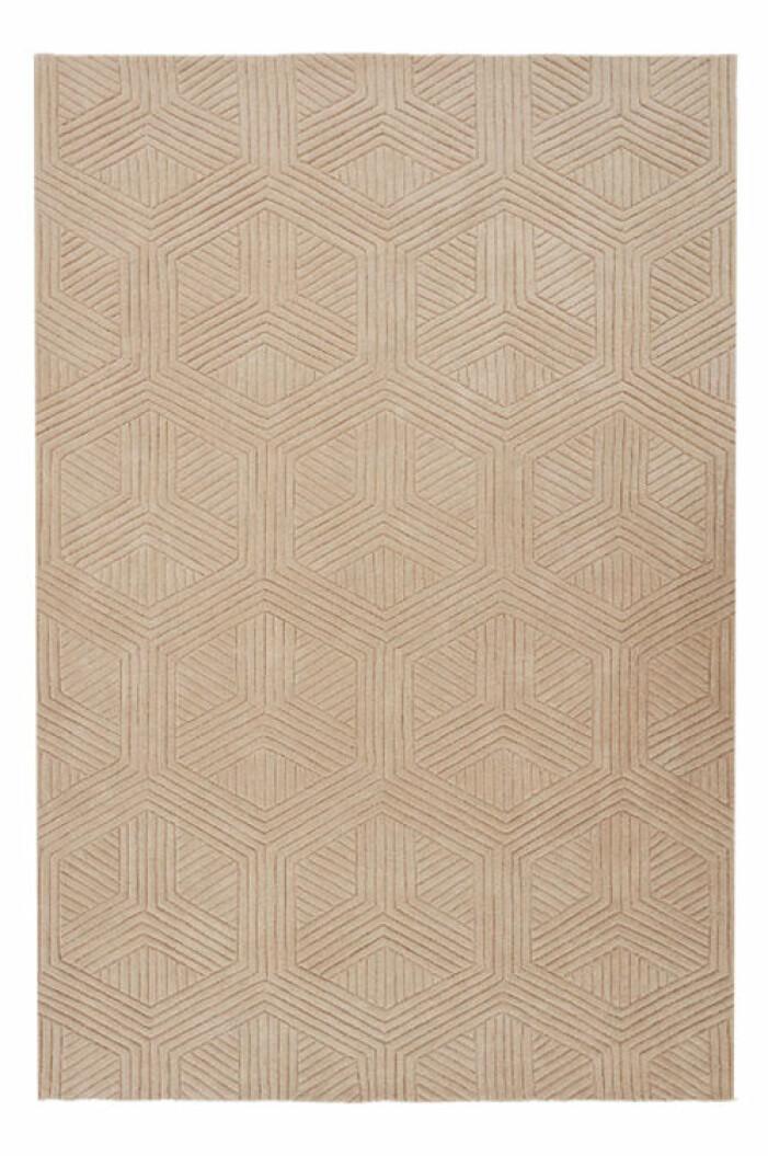 beige matta med mönster från jotex
