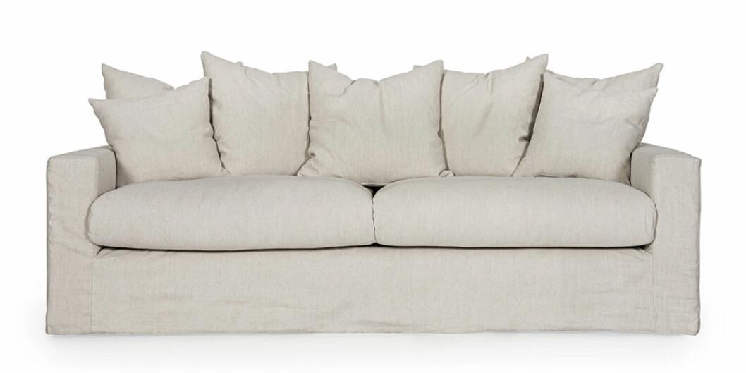 beige soffa på rea