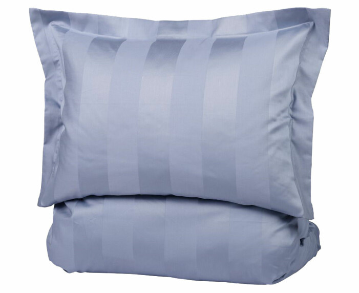 blå sängkläder satin