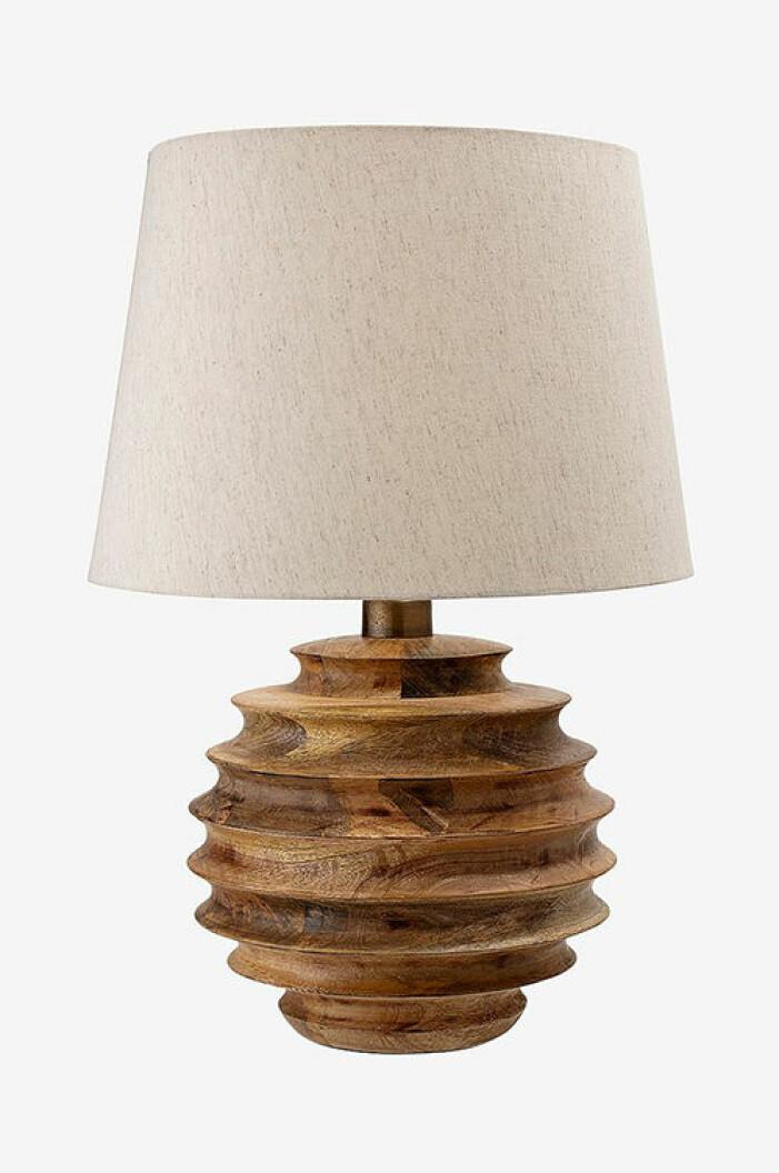 Bordslampa med fot i trä, Bloomingville