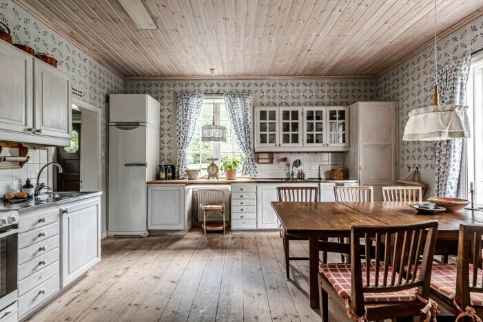 Herrgård i karolinsk stil i Borgvik Värmland köket