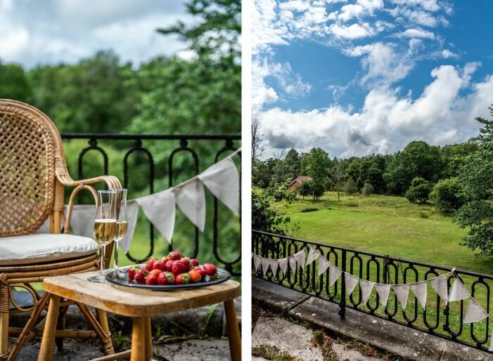 Herrgård i karolinsk stil i Borgvik Värmland trädgård och terrass