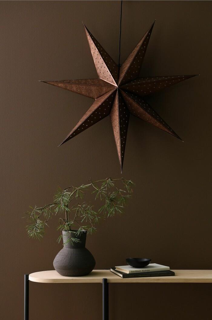 brun adventsstjärna från ellos home