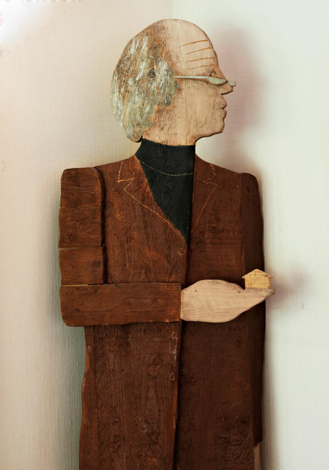 Träfigur av arkitekten Carl Nyrén