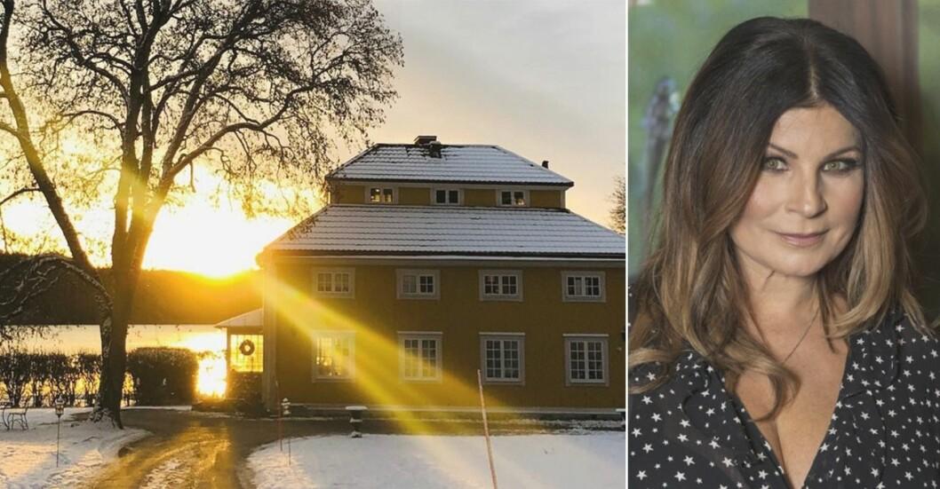 Carola Häggkvist, 53, följde drömmen och flyttade till ett slott i Steninge Slottsby