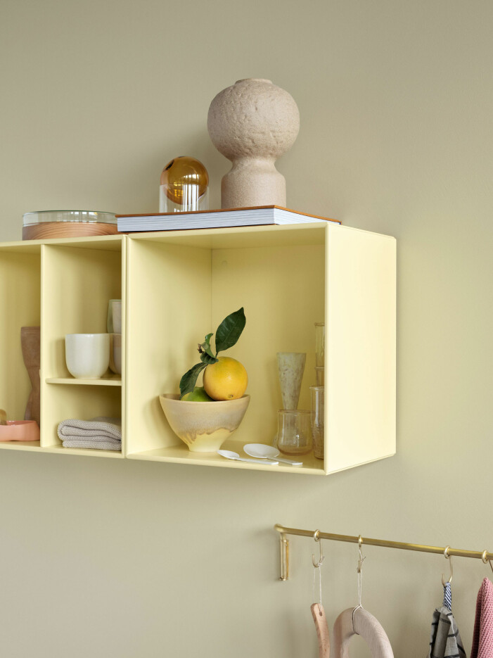 Compact living-tips för köket och badrummet, väggfast förvaring