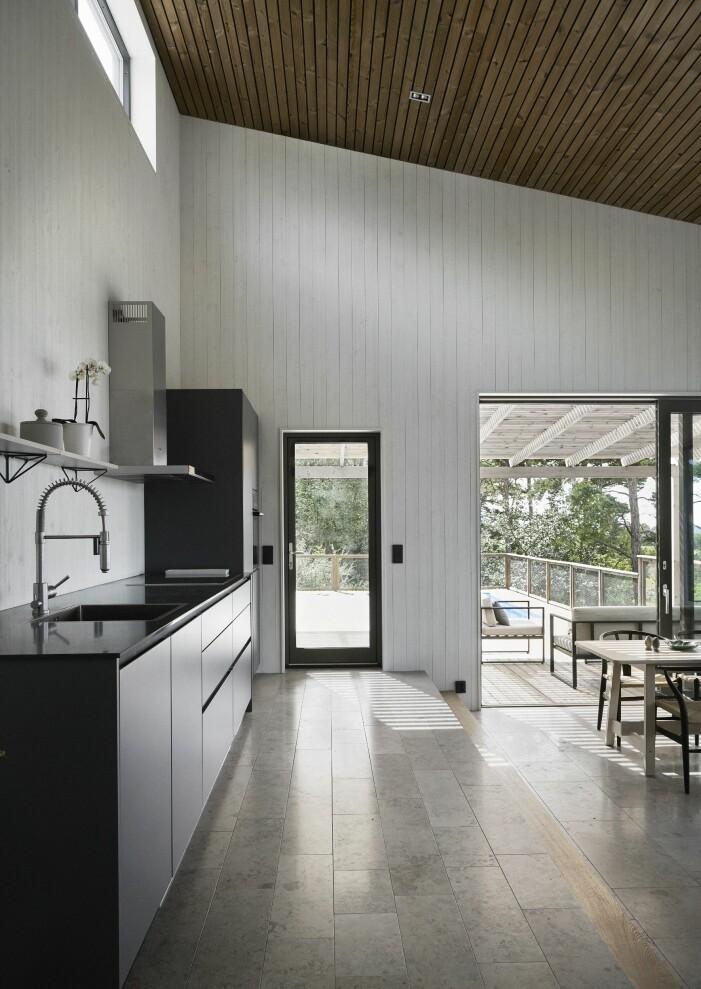 Kök i sommarhus på Gotland