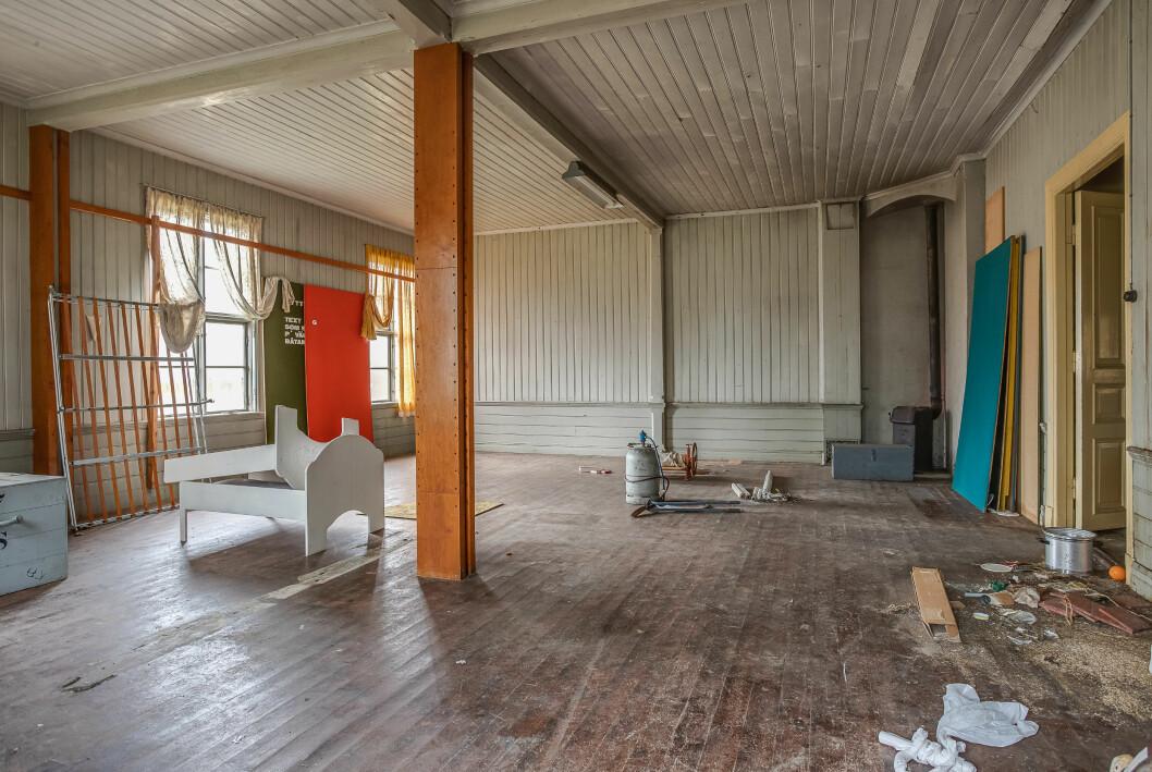 En bild från skolan innan renoveringen påbörjades.