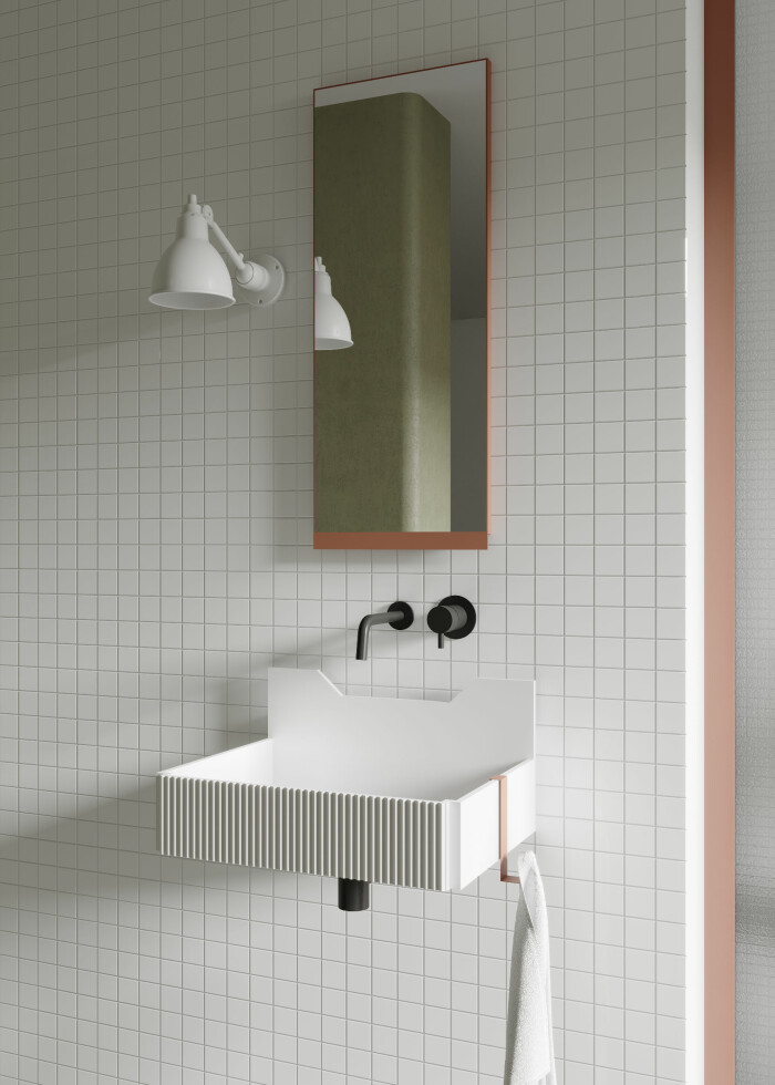 badrum i modern retrostil