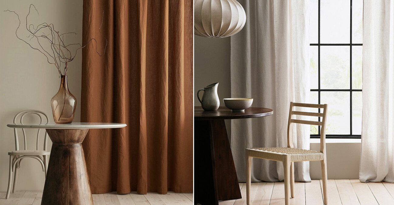 Extra långa gardiner och gardinstänger