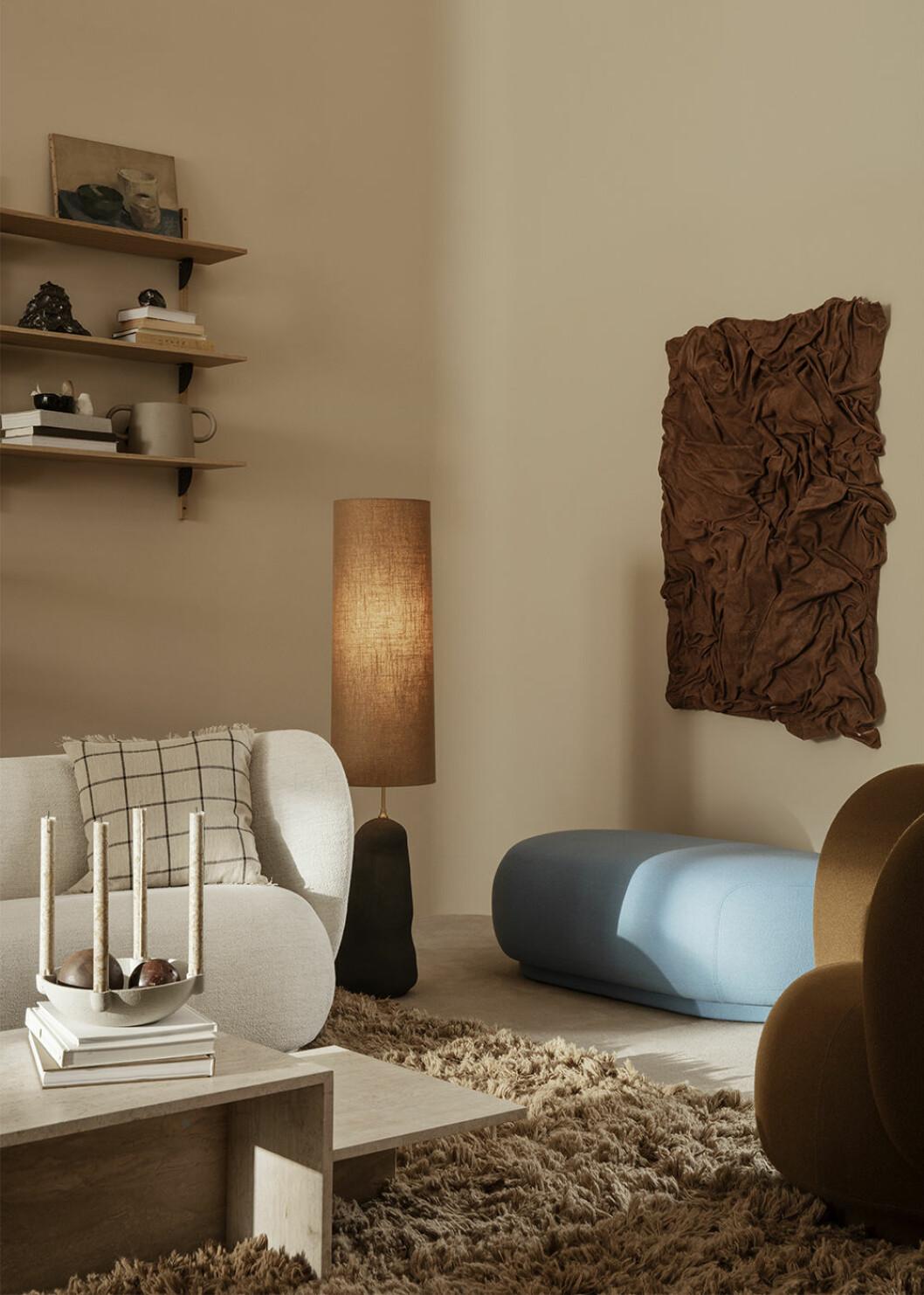 Texturer och olika material hos Ferm Living hösten 2020