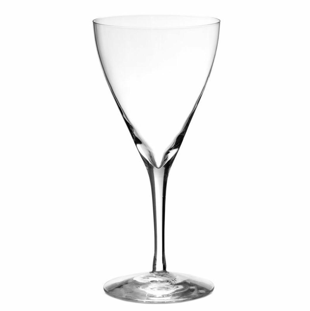Champagneglas Crystal flora av Ingegerd Raman, Skrufs glasbruk.