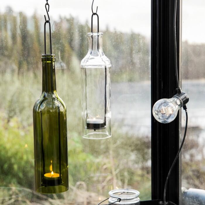 hängande flaska ljuslykta