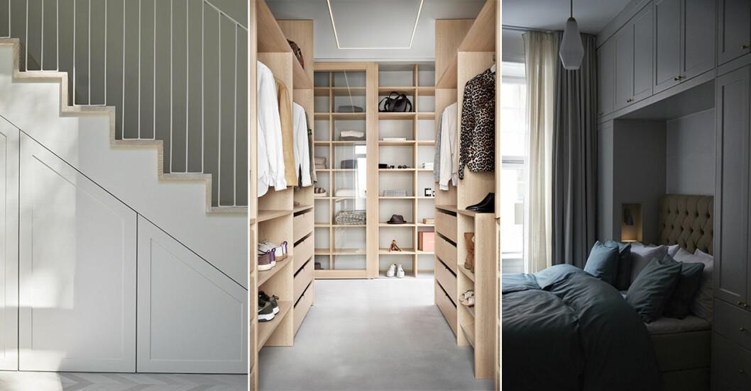 förvaringslösningar och garderober att inspireras av