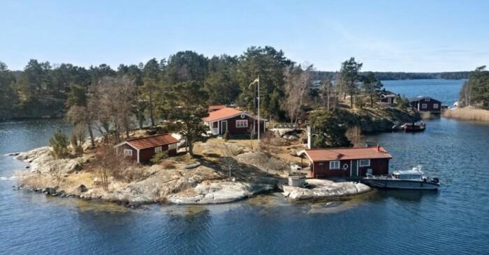 Fritidshus på egen udde till salu gällnöby bild från ovan