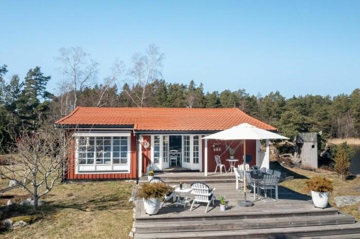 Fritidshus på egen udde till salu gällnöby huset