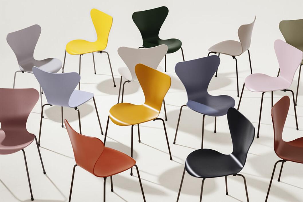 Fritz Hansen klassiker i 16 nya färger