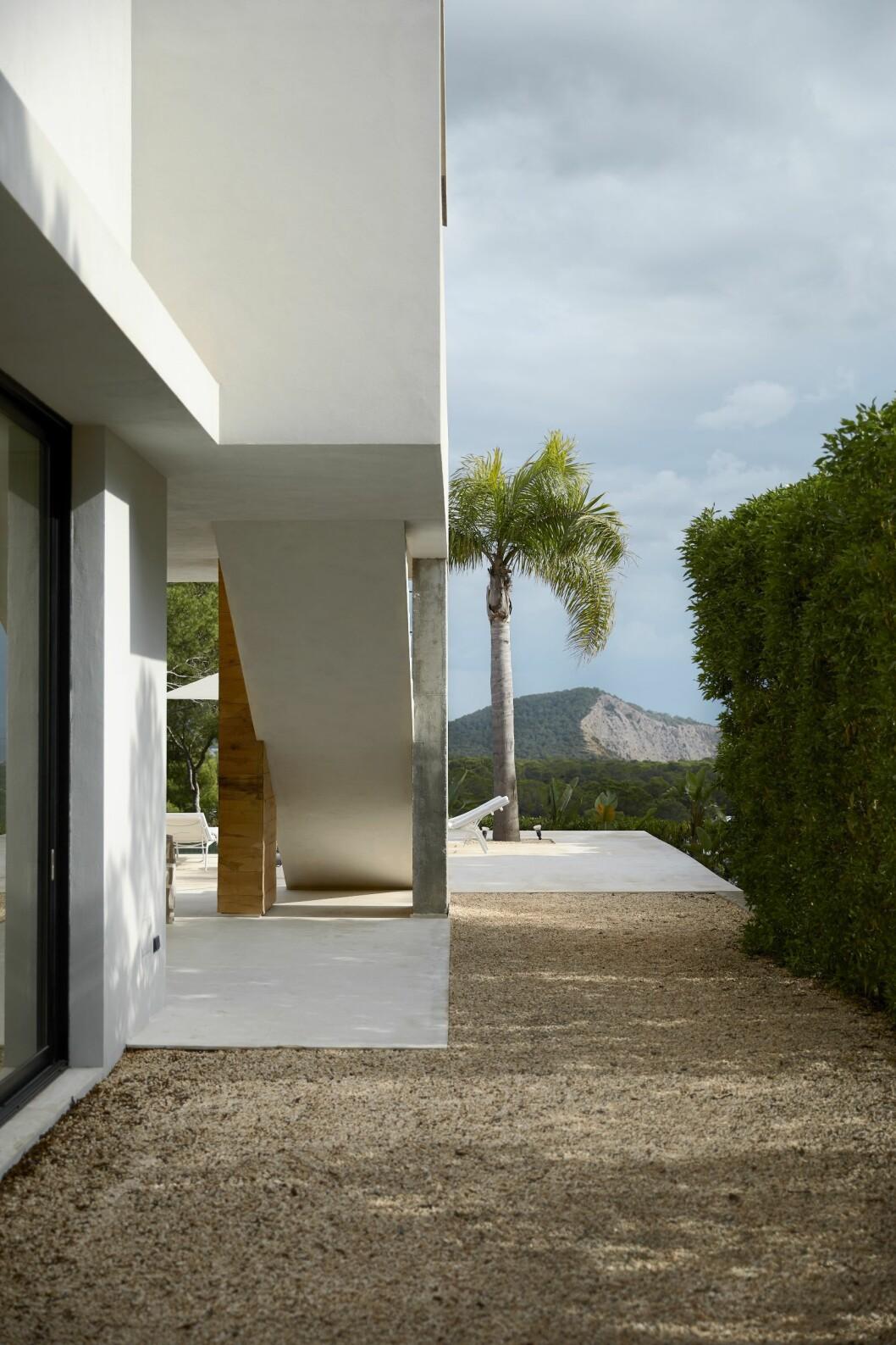 Vacker vy hemma hos Charlotte Gyllenhammar på Ibiza.